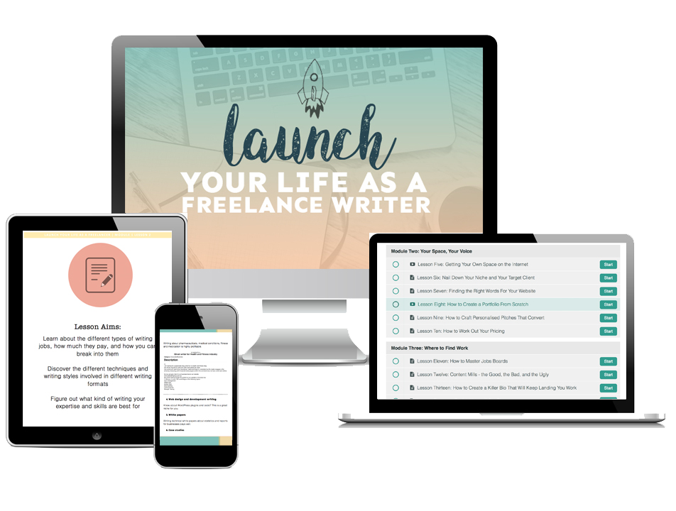 Launch Your Life As A Freelance Writer Hero